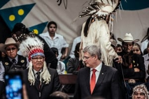 PM Stephen Harper and Chief Weasel Head