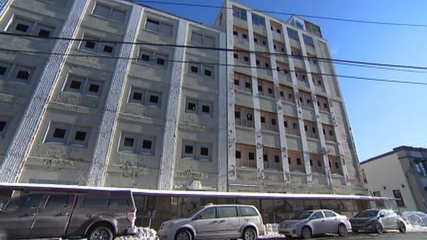 The old Newfoundland Telephone building on Duckworth Street in St. John's was supposed to be transformed into a 77-unit condominium by now, but is nowhere near finished.