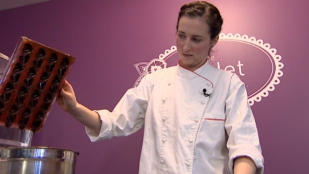 Chocolatier Rebecca Grant creates her products in a location in southwest Edmonton.
