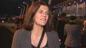 Christine Sinclair at Olympic torch lighting