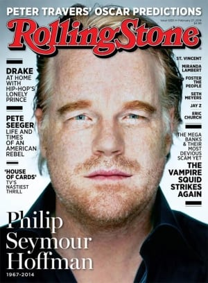 Philip Seymour Hoffman on Rolling Stone cover