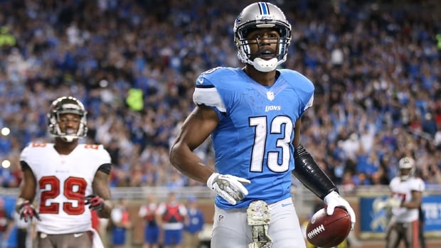Nate Burleson (13) had 39 receptions for 461 yards and one touchdown in nine games last season, his fourth with the Lions.
