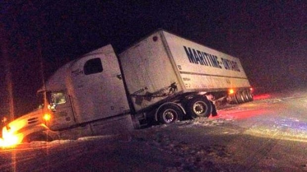 This truck was pushed off the Trans-Canada Highway in the notorious Wreckhouse area of western Newfoundland.