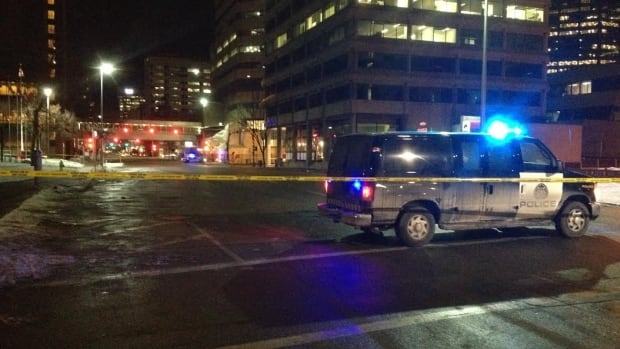 Police are investigating a fatal stabbing at the northeastern end of downtown Calgary early Friday morning.