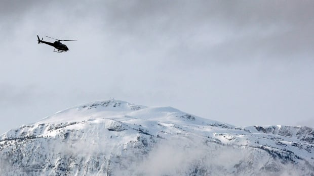A search and rescue helicopter heads toward a deadly avalanche site in a March 14, 2010 photo near Revelstoke, B.C. The Conservative government introduced a tax break for search and rescue volunteers in the 2014 budget as a way to recognize the important work they do.