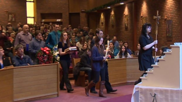 Friend and family members gathered at Gonzaga High School on Friday to remember the Ocean Ranger tragedy 32 years ago.