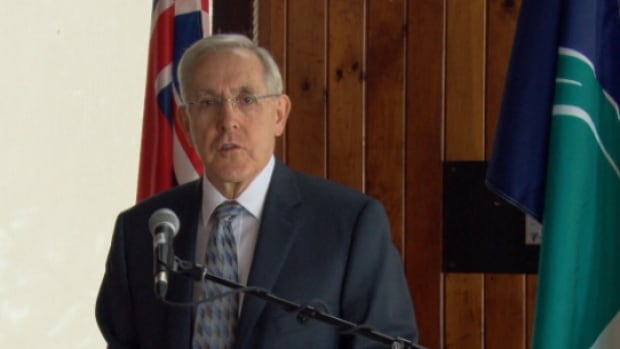 MPP Bob Chiarelli attended a funding announcement at the Britannia Yacht Club.
