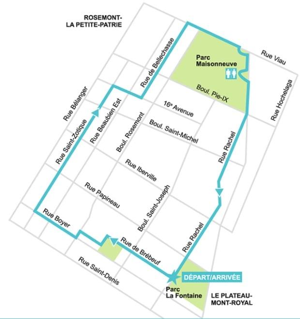Velo Quebec map