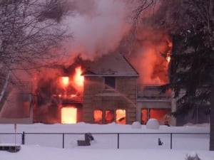 Wellington Crescent house fire