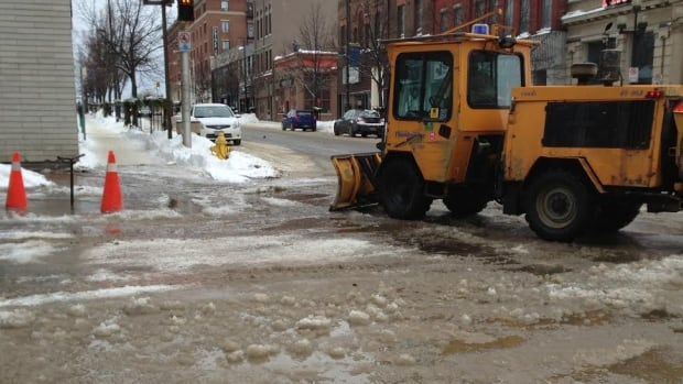 Crews responded to water on the road in the Park Avenue and Cumberland Street area just before 8 a.m.