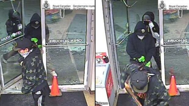 RCMP released images taken from surveillance video.