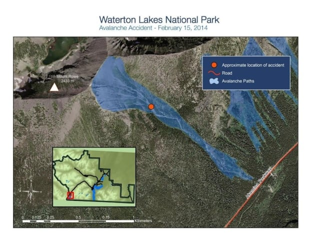 Waterton Avalanche Map