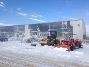 Warehouse fire follow