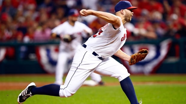 Cleveland Indians pitcher Justin Masterson led the Indians in wins last year when he went 14-10 with a 3.45 ERA.