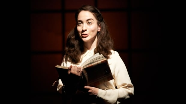 Tal Gottfried plays Anne Frank in The Secret Annex by local playwright Alix Sobler.