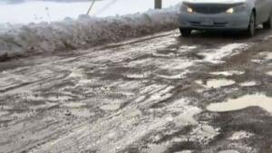 Ammon Road potholes