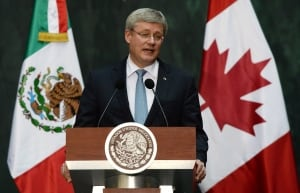 Stephen Harper in Mexico