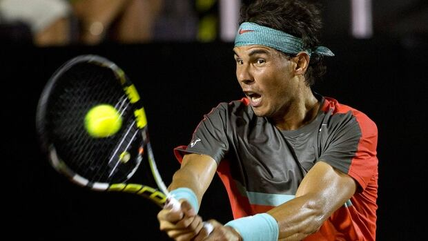 Rafael Nadal returns the ball to fellow Spaniard Daniel Gimeno-Traver at the Rio Open in Rio de Janeiro, Brazil, on Tuesday.