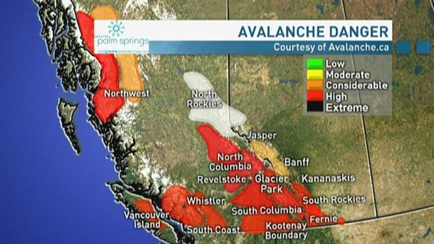 Avalanche danger remains high for many places in B.C.