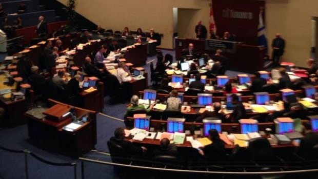 Toronto city council sat on Feb. 19, 2014 to vote on motions including new rules for taxis and the appointment of a new TTC head.