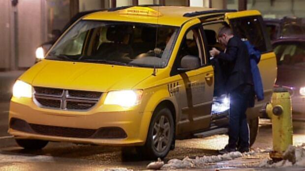 Calgary taxi night