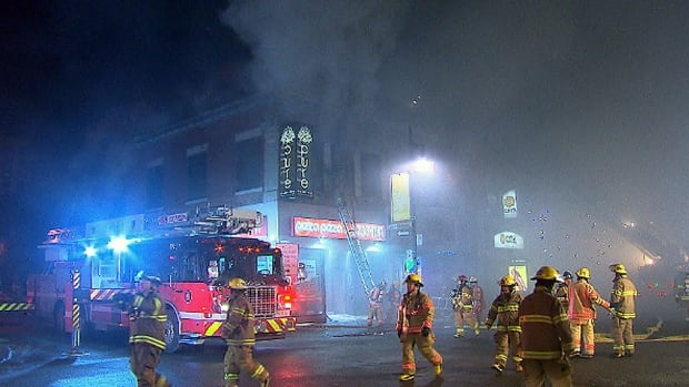 About 100 firefighters were on the scene of a fire Thursday morning. It took them four hours to put out the flames.