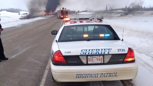 A crash involving a tanker truck closed Highway 63 about 70 kilometres south of Fort McMurray for 21 hours Wednesday.