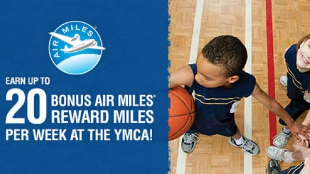 An ad offering Air Miles to YMCA Canada members.
