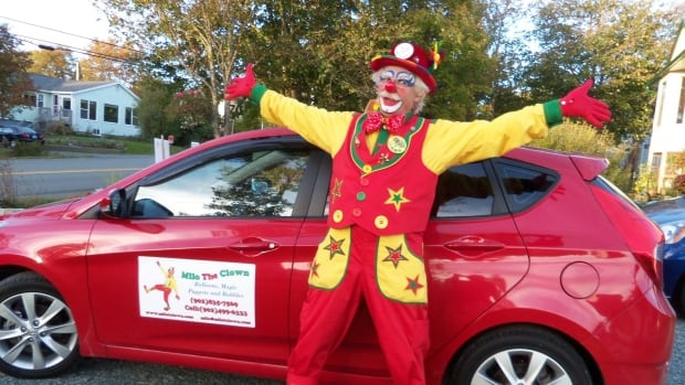 "Miles Leahy has been clowning around Nova Scotia for more than 25 years under the name Milo ""T"" Clown. The ""T"" stands for ""the"""