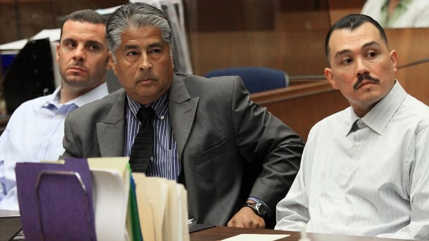 Louie Sanchez, right, and Marvin Norwood , left, were handed eight- and four-year prison sentences on Thursday in the 2011 beating of Giants fan Bryan Stow at Dodger Stadium.