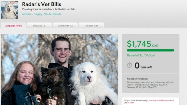 A website was started to help pay for the vet bills of Radar, right. Calgary police are now trying to help return the money to those who donated to the cause.