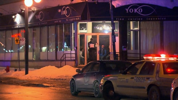 Police were called to a Japanese restaurant in St-Léonard early on Friday morning after receiving several calls reporting possible gunshots.