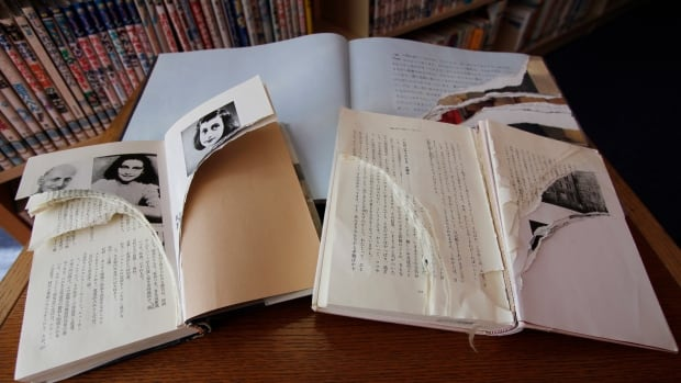 Ripped and damaged copies of Anne Frank's Diary of a Young Girl and related books were discovered across Tokyo libraries, sparking fears of an anti-Semitic motive.