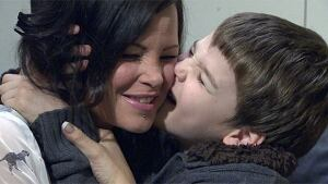 Kelly Moonie with her son Kyle