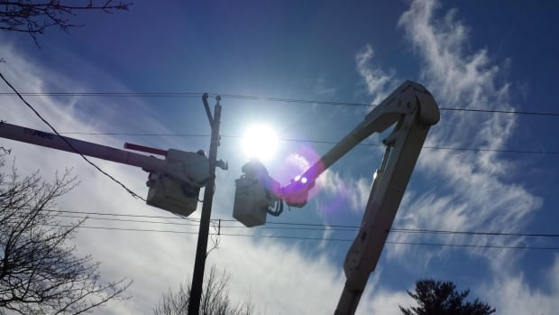 Nova Scotia Power crews were out during the day on Friday, and according to restoration times, will be working to restore power well into Saturday's early morning hours.