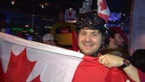 Team Canada fan at Shark Club