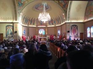 Ukrainian prayer service, Winnipeg