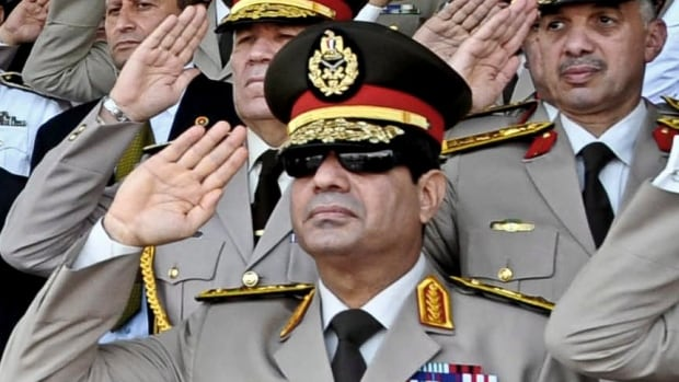 General al-Sisi (pictured) was the leader and public face of a military coup that forced Egypt's last president, the Muslim Brotherhood's Mohamed Morsi, from power in July 2014.