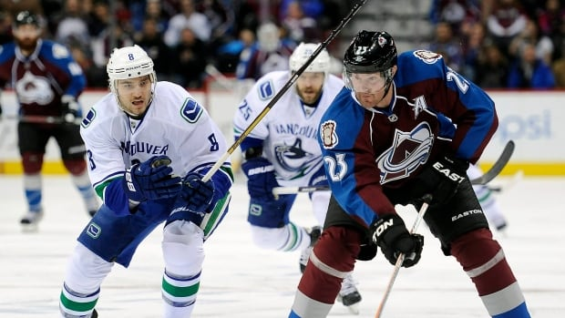 Milan Hejduk, right, spent his entire NHL career with the Colorado Avalanche.