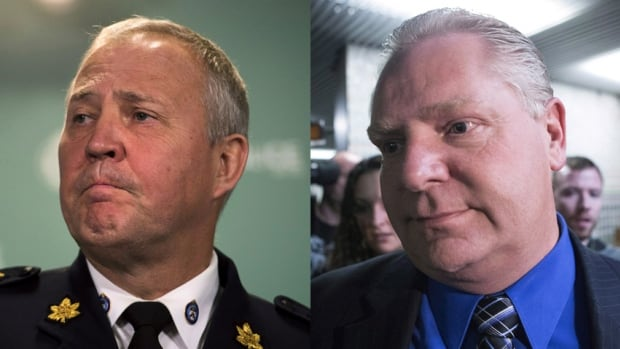 The Office of the Independent Police Review Director is investigating a complaint that Coun. Doug Ford (right) made about Toronto police Chief Bill Blair, who went on a fishing trip with police board member Andrew Pringle. Ford called it a conflict of interest.
