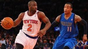 Raymond Felton (2) of the Knicks dribbles by Monta Ellis in Monday's 110-108 loss to the Mavericks at Madison Square Garden.