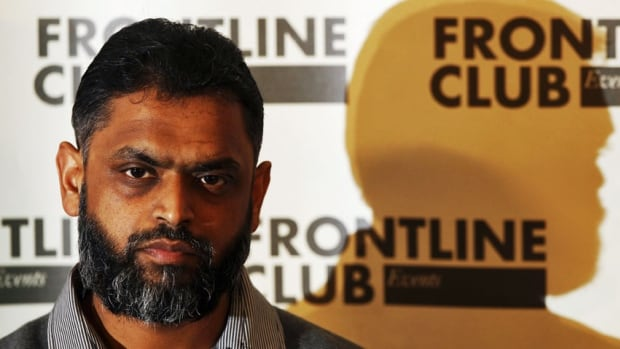 Former Guantanamo detainee Moazzam Begg, shown in a 2012 photo, was among four people arrested by British authorities on terrorism-related charges.