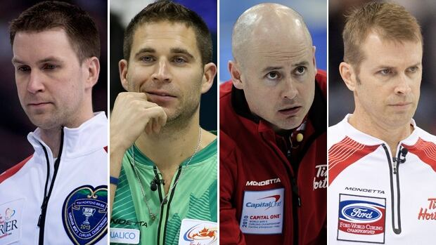 Brad Gushue, John Morris, Kevin Koe, and Jeff Stoughton are just four of the 12 skips looking to win the Brier in Kamloops, B.C.