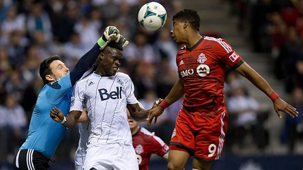 Emery Welshman, right, made two combined appearances last season for Toronto FC.