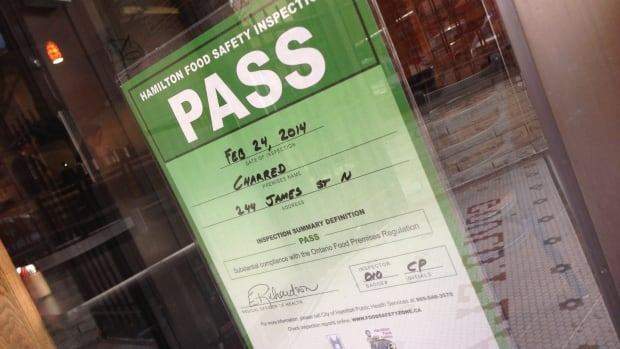 New food inspection signs have started popping up in Hamilton since the city's new food inspection program launched in January.