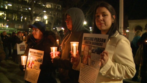 About 200 people held the vigil for Loretta Saunders in Halifax.