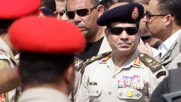 Egypt's military leader Abdel-Fattah el-Sissi says he has resigned from the military in order to make a bid for the presidency.