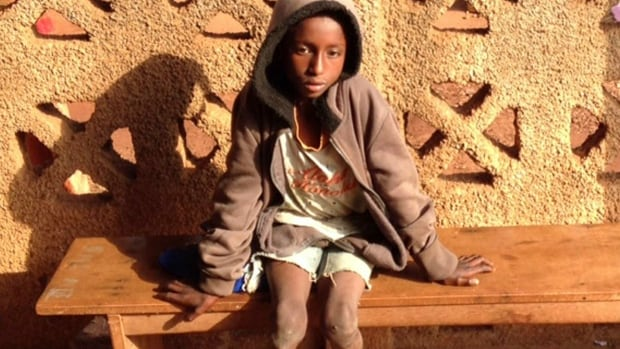 Ibrahim Adamou walked around 100 kilometres to safety after his parents were killed by anti-Muslim militiamen in Central African Republic.