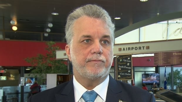 "Quebec Liberal Leader Philippe Couillard says the results of a new EKOS poll, which suggest half of Quebec's anglophone and allophone population have considered leaving the province in the last year, are ""not good news."""
