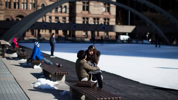 The ice rink at Nathan Phillips Square, shown in a file photo above, is scheduled to remain open until March 16.